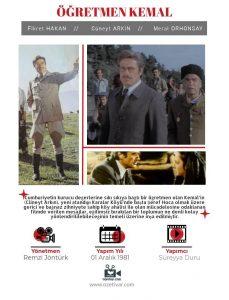 En iyi Cüneyt Arkın filmleri içerisinde yer alan Öğretmen Kemal, idealist bir öğretmenin hikayesini konu edinir.
